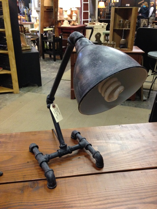 A genuine steampunk lamp. The CFL is a nice touch.