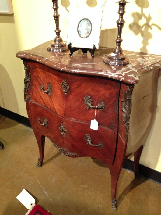 Rococo revival/bombe chest. Don't love it.