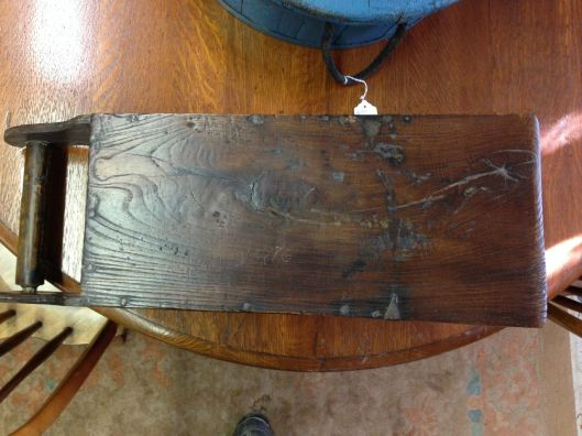 And a little honest wear on the nicely polished bottom. Not planed or sanded. Grained.