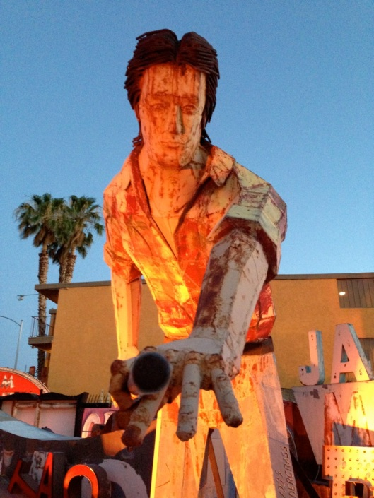 From the Neon Museum. Take the twilight tour. Among other things, it's cooler.