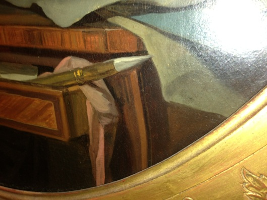 I found a painting of a dovetail. Unfortunately, it doesn't read and I forgot to take a picture of the entire painting.