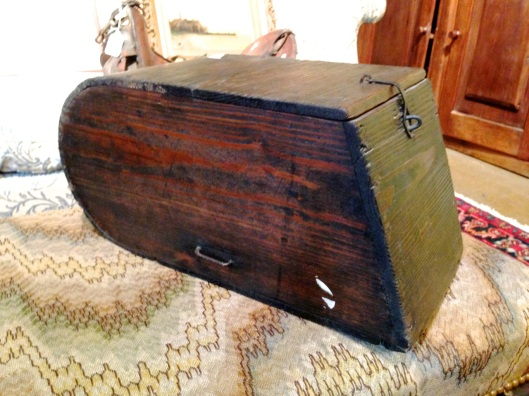 Yellow pine lidded storage box, or is it?