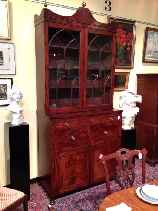 Nice secretary with bookcase. Glass doors. Click to see the gallery.