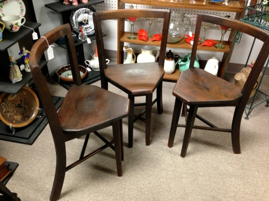 A set of three Seatmore  side chairs.