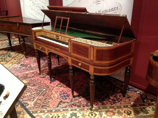 An English square piano.
