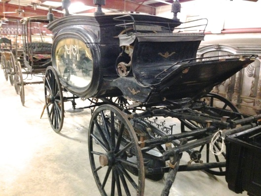 Alternate view of the hearse.