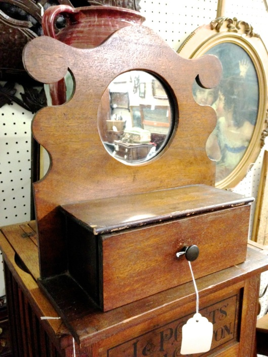 Wall box with mirror.