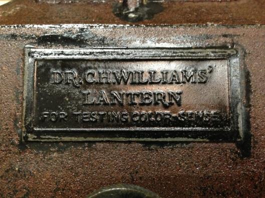 Dr. C. H. Williams' Lantern for Testing Color-Sense.