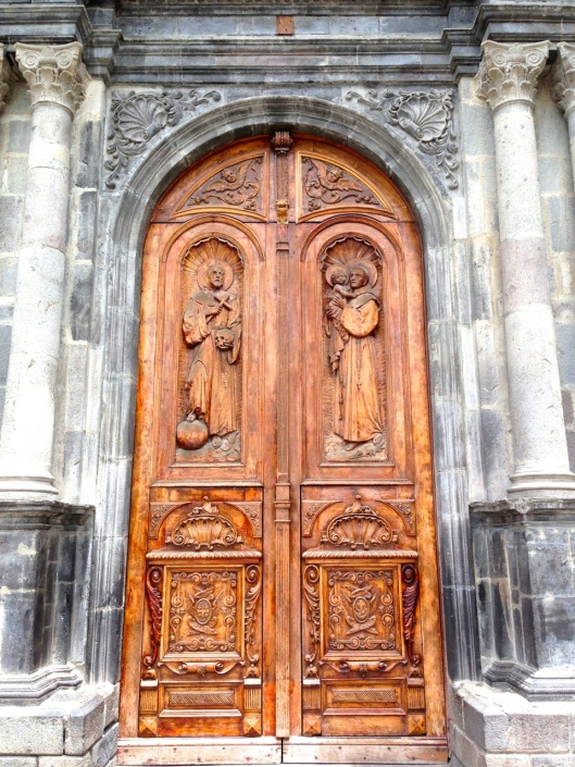 A church door.