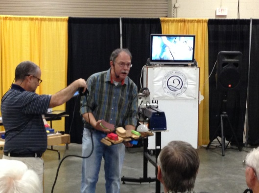 Scott Phillips demonstrating the best new products.