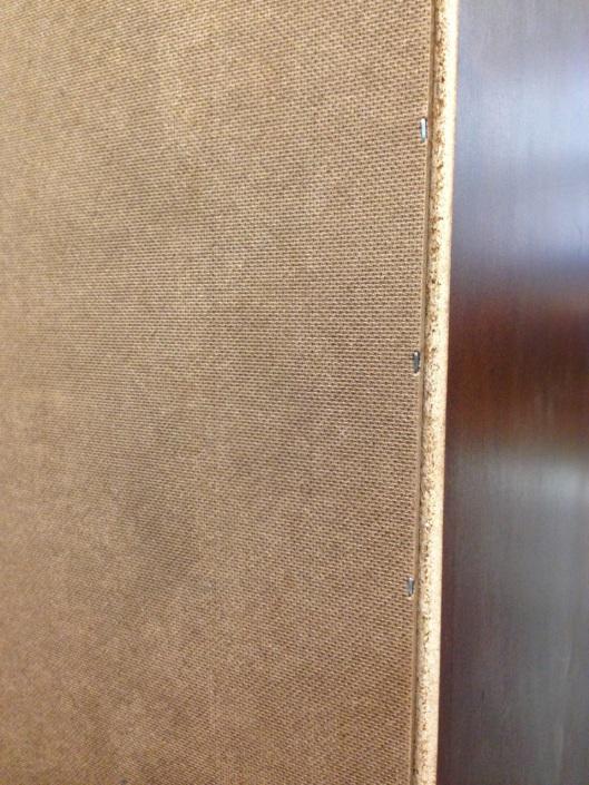 Horizontally texture hardboard.