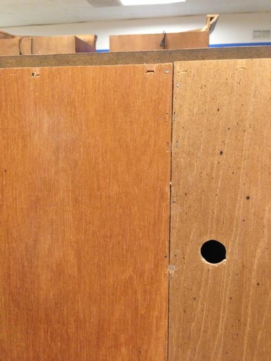 Luan, not mahogany plywood.