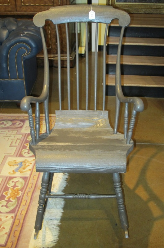Seat is also wider than traditional rocking chairs.