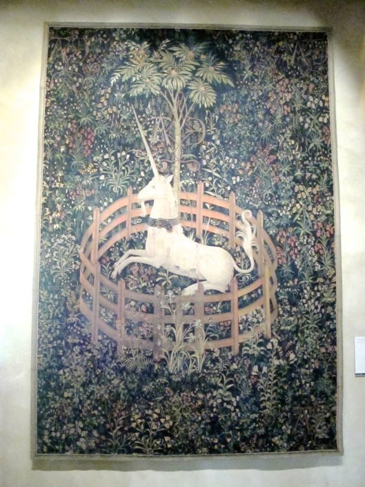 One of the unviewed unicorn tapestries.