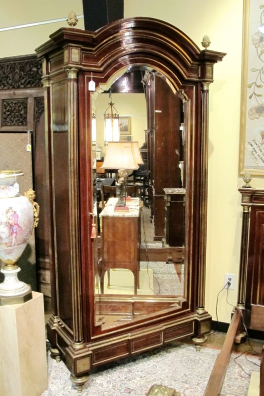 Large armoire with mirror.