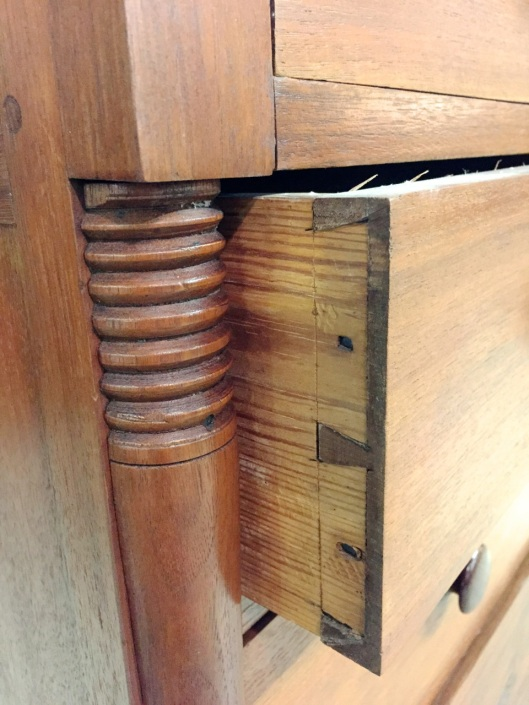 Dovetails and beads.