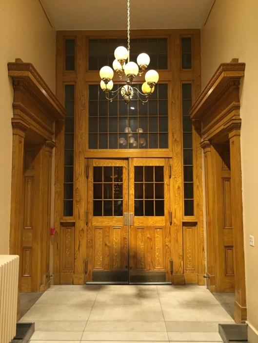 Lots of wood doors and trim: