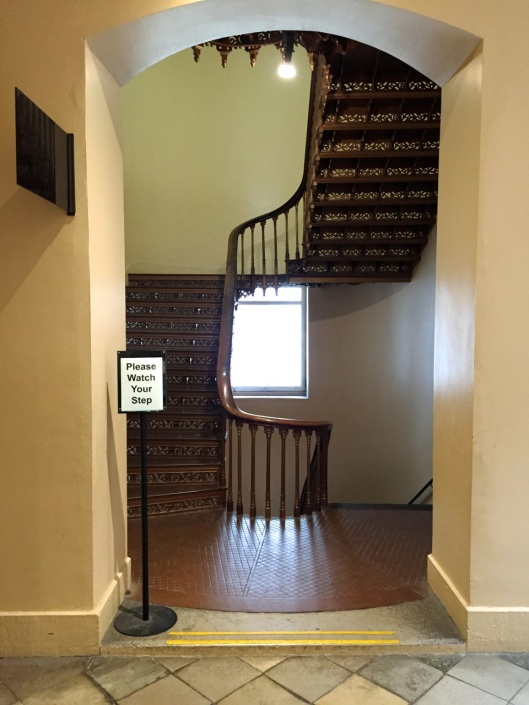 Stairs that go up and down.