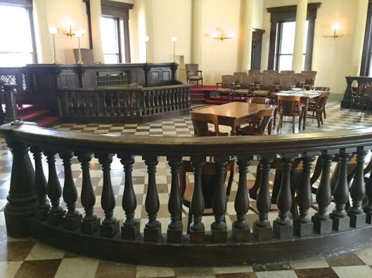 One of the restored courtrooms.