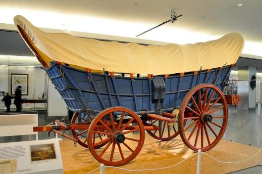 A Conestoga wagon.