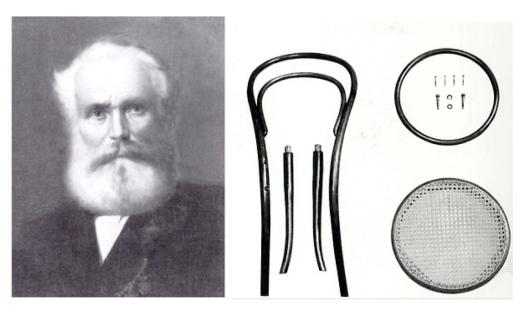 Mr. Michael Thonet and his chair.