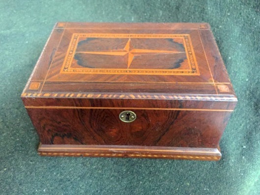 Inlaid sewing box.