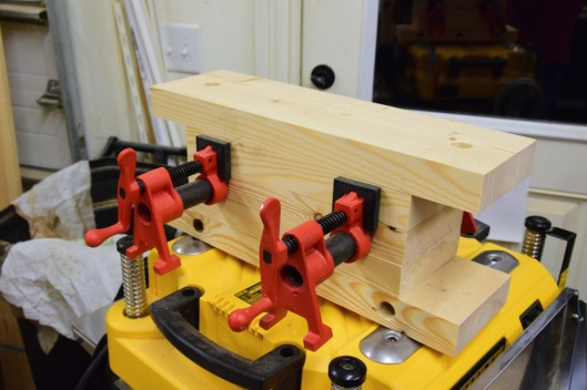 One iteration of my Bench Bull. I have more money invested in the black pipe. I already owned the clamps.