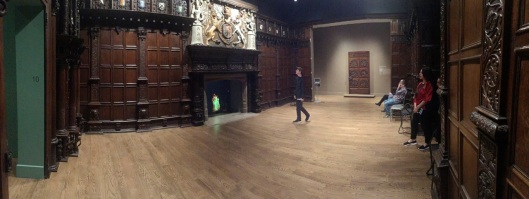 English Renaissance Room during on of its quiet moments.