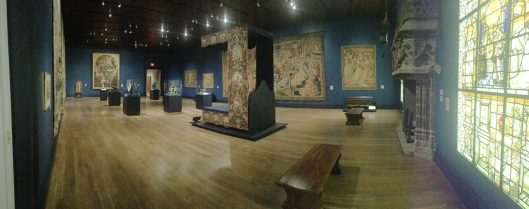 The appropriately named Tapestry Room.