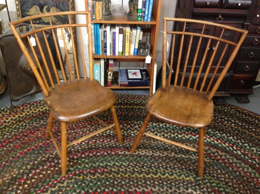 Antique birdcage chairs.