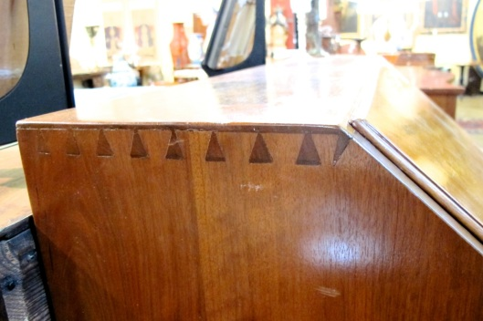 More alternate half-blind dovetails.