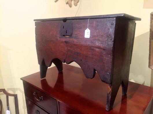 I can believe it is antique and a blanket chest. Definitely diminutive. Continental, I don't know.