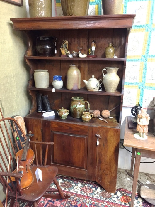 19th Century North Carolina Open Pewter Cupboard